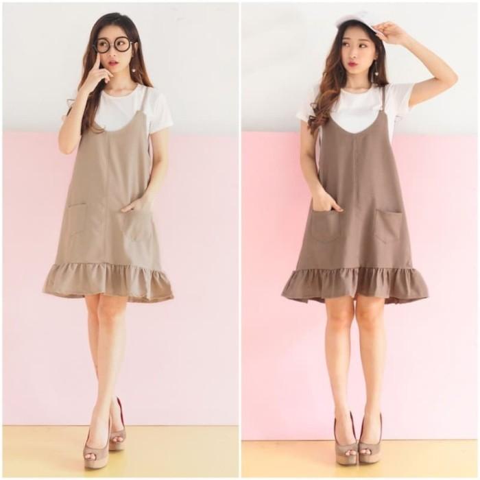 3dbc3f097b Jual Setelan Baju Overall Jumpsuit Mini Dress Wanita Korea Import ...