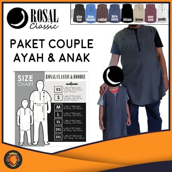 PAKET COUPLE - ROSAL CLASSIC - Ayah & Anak - Rompi Pakaian Sholat