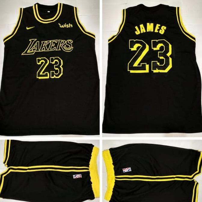 check out 3201b 8fa06 Jual jual Jersey Dan Celana Basket NBA Lakers Black Lebron James ready -  DKI Jakarta - ayana kedai | Tokopedia