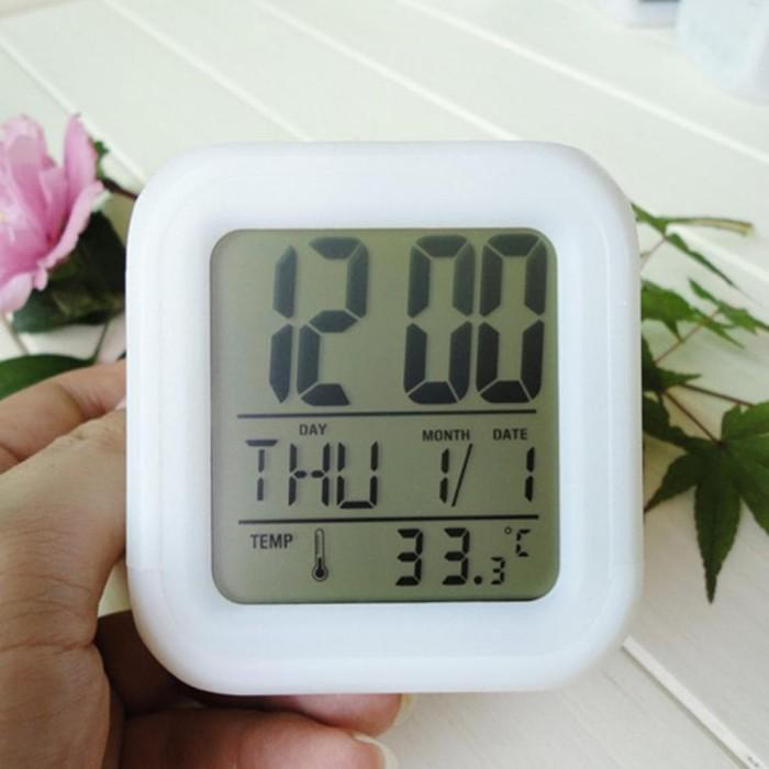 jual Jam weker alarm Moody Clock Kubus Berubah 7 Warna Pengukur suhu - e08396a2e0