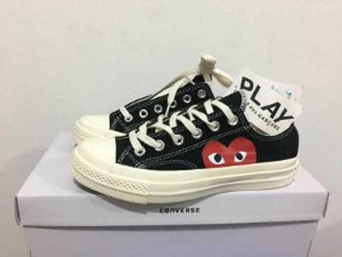 45175f41bd49 Jual Converse Play CDG Black White Premium Quality - delisafitri313 ...