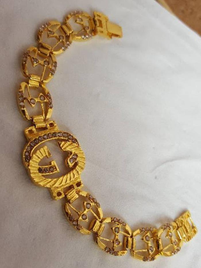 Gelang Chanel Cor Permata Lapis Emas Limited