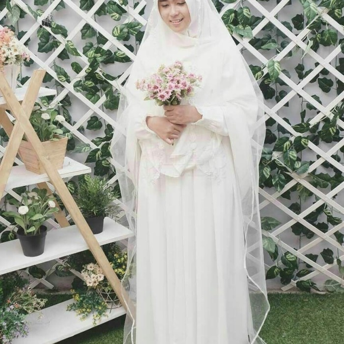 Gamis Gaun Pengantin Gambar Islami