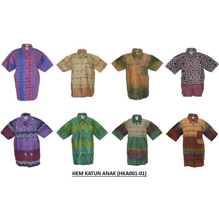 Jual Kemeja   Hem Batik Anak Laki-Laki Lengan Pendek (Hka001) Batik ... c0557ef776