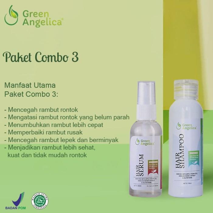 Jual Green Angelica Combo 3 Paket Rambut Rontok Kusam Berminyak dan ... f6a4b00d8b