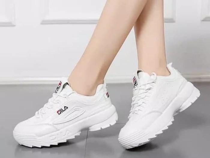 Sepatu Olahraga Wanita Terbaru 2019 Warna Putih Versi Korea Sepatu