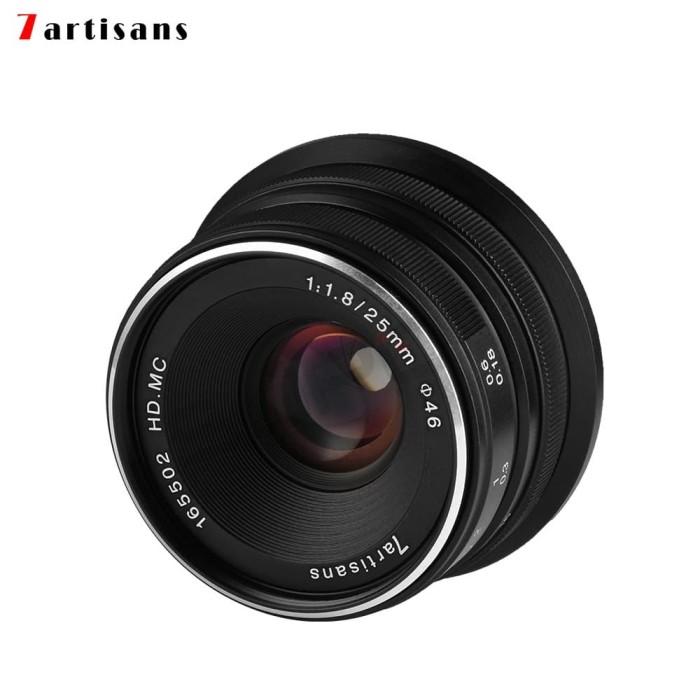 Foto Produk 7Artisans 25mm F1.8 Manual Focus Prime Fixed Lens for Fuji FX - Black dari Bu Tik store