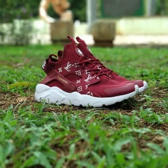 low price discount shop clearance prices Jual Sepatu Nike Air Huarache Louis Vuitton Supreme Red Premium ...