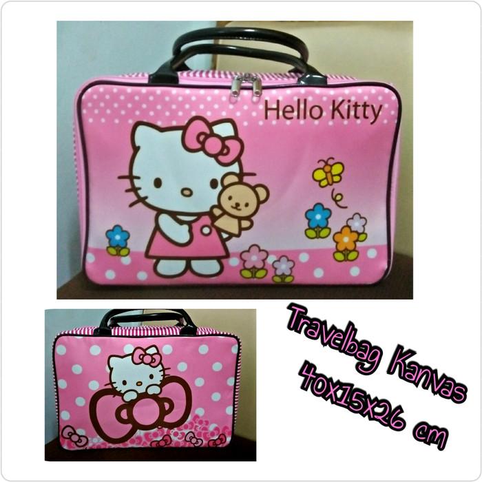 Travelbag Kanvas Hellokitty Pita