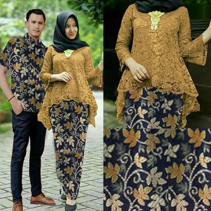 Jual Baju Couple Muslim Couple Batik Kebaya Brukat Bianka Coklat Jakarta Barat Trendy Distro Tokopedia