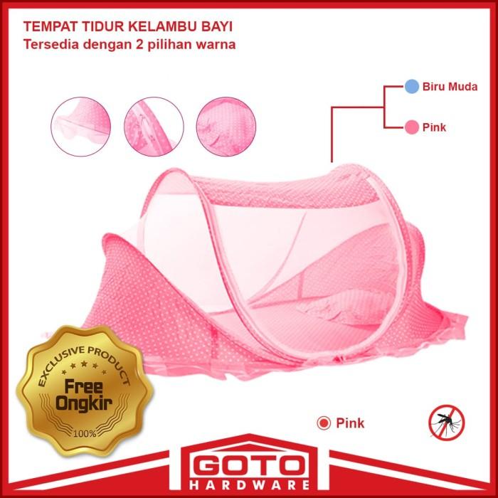 harga Kelambu bayi musik series 3in1 dengan kasur dan bantal set murah - merah muda Tokopedia.com