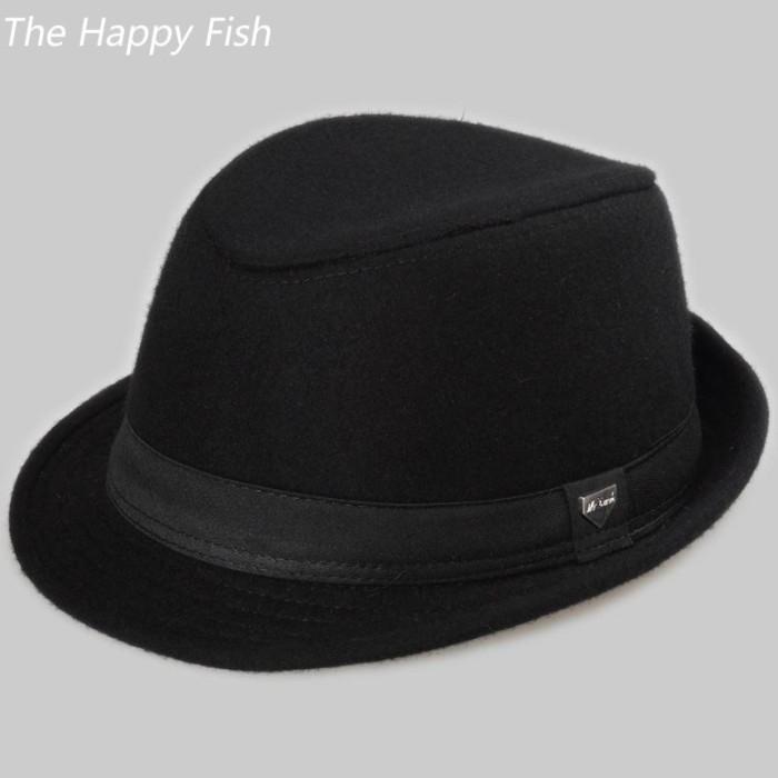 Topi Fendora Impor Vintage fedora topi topi fedora untuk pria wol mera c1befe5f76