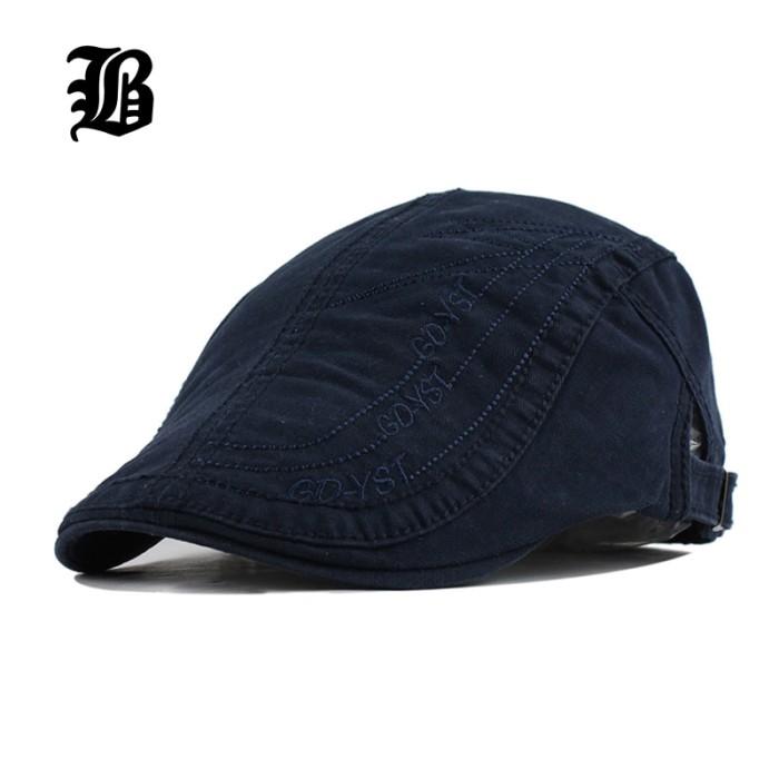 Topi [FLB] Baru Musim Panas Dilengkapi Kapas Baret Topi untuk Pria Kas