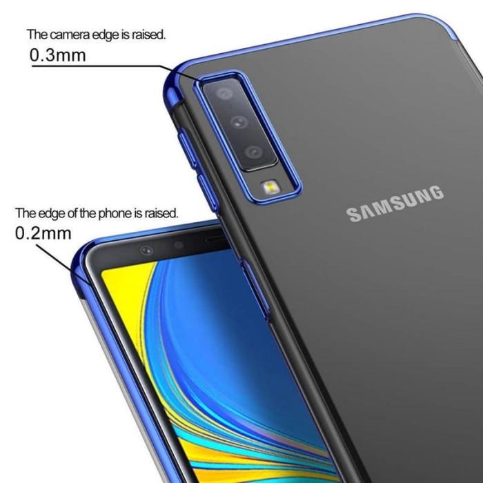 separation shoes f5642 1842e Jual Case Samsung A7 2018 Chrome Plating Softcase Samsung A7 Triple Camera  - Biru - Jakarta Selatan - Calvin Acc | Tokopedia