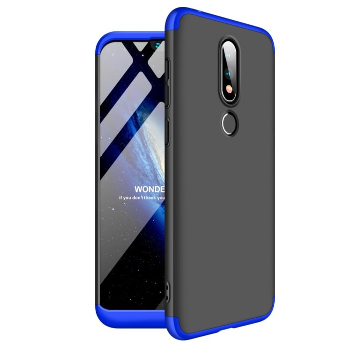 Foto Produk Nokia X6 / 6.1 PLUS 360 protection slim matte case - mix dari importking