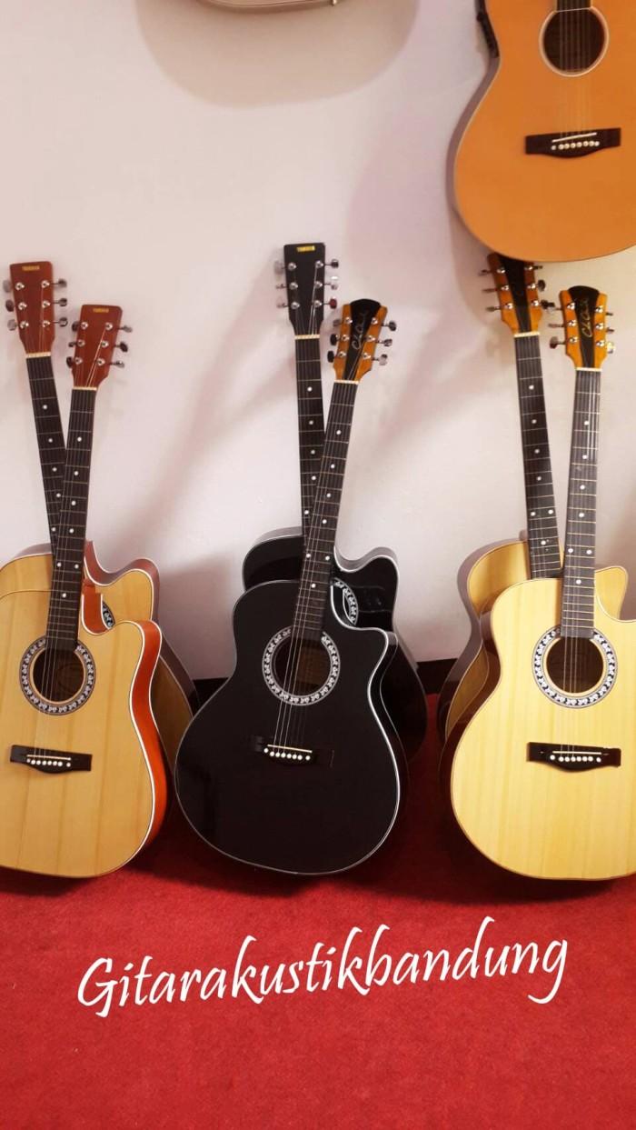 harga Gitar akustik jumbo murah bandung bisa gosend ready yu Tokopedia.com