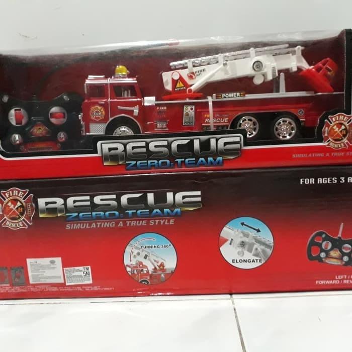 harga Mainan mobil pemadam fire engine truck rescue rc remote control + box Tokopedia.com