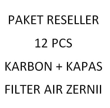 Paket Reseller Pemula,Refill Karbon Dan Kapas Filter Air Zernii