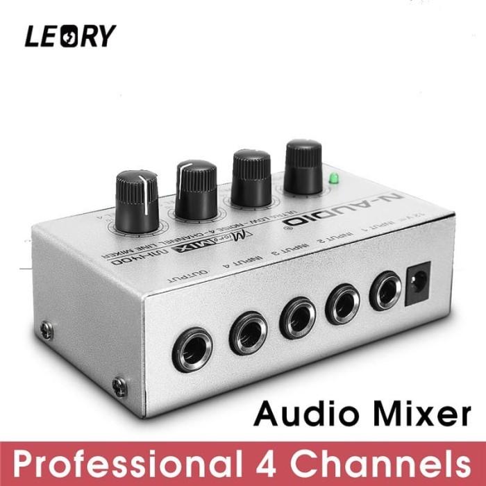 harga Mixer 4 Channel Mini DJ Mixer Audio Suara Musik leory Protable Tokopedia.com