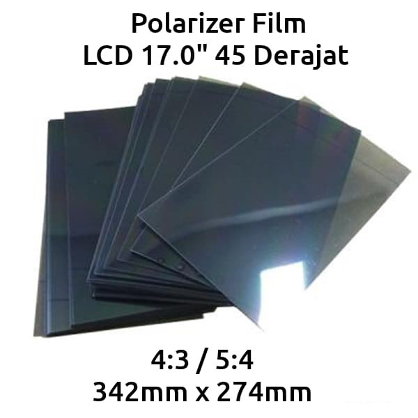harga Polarizer film lcd monitor tv 17 inch 45 derajat / polarized Tokopedia.com