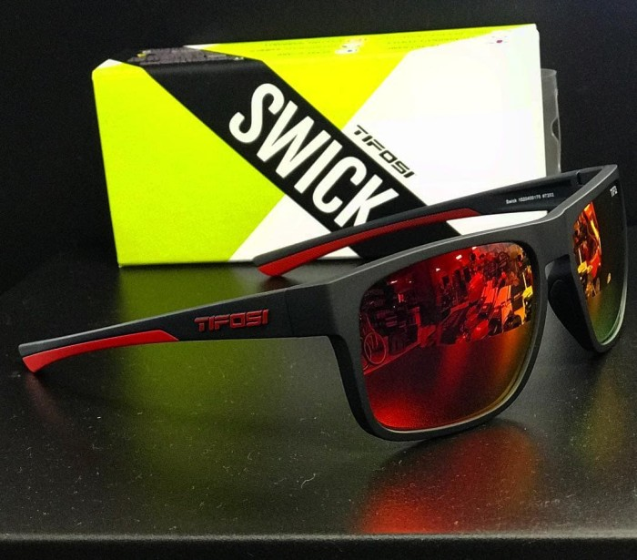 d2251a0de29 Jual Kacamata Tifosi Swick Satin Black Crimson Sunglasses - Smoke ...