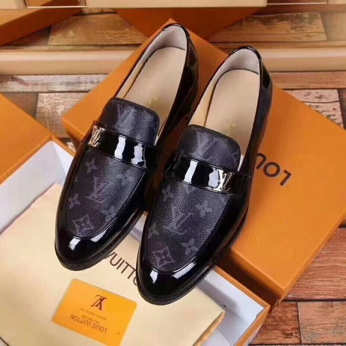 Jual Sepatu Pria Lv Gucci Versace Hermes Kulit Asli Premium