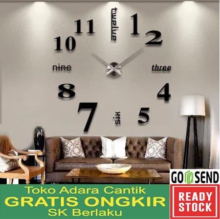 Jam Dinding Besar Raksasa Wall Clock Jam DIY Antik Unik Dekorasi Kado b513865727
