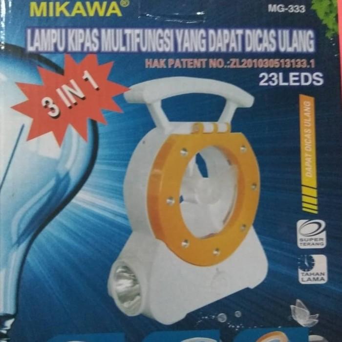 harga Lampu kipas multifungsi mikawa mg - 333 emergency lampu dan kipas Tokopedia.com