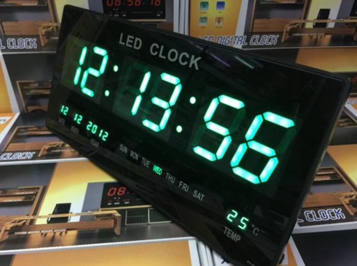 Info Harga Jam Dinding Digital Led Meja   Led Clock 4622 Hijau di ... 3c2bce3b6f