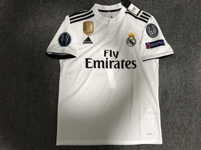 50e63e117 Jual JERSEY UCL REAL MADRID HOME FULL PATCH 2018 2019 GRADE ORI ...