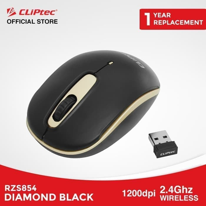 harga Paket hemat cliptec rzs854 diamond black | wireless mouse optik 5 pcs - champagne Tokopedia.com