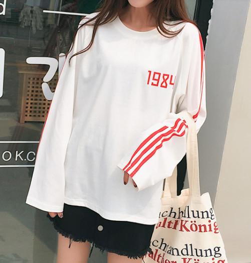 39a5dcdd894a Sweater usa tangan panjang cotton crop tee bomber hip hop style