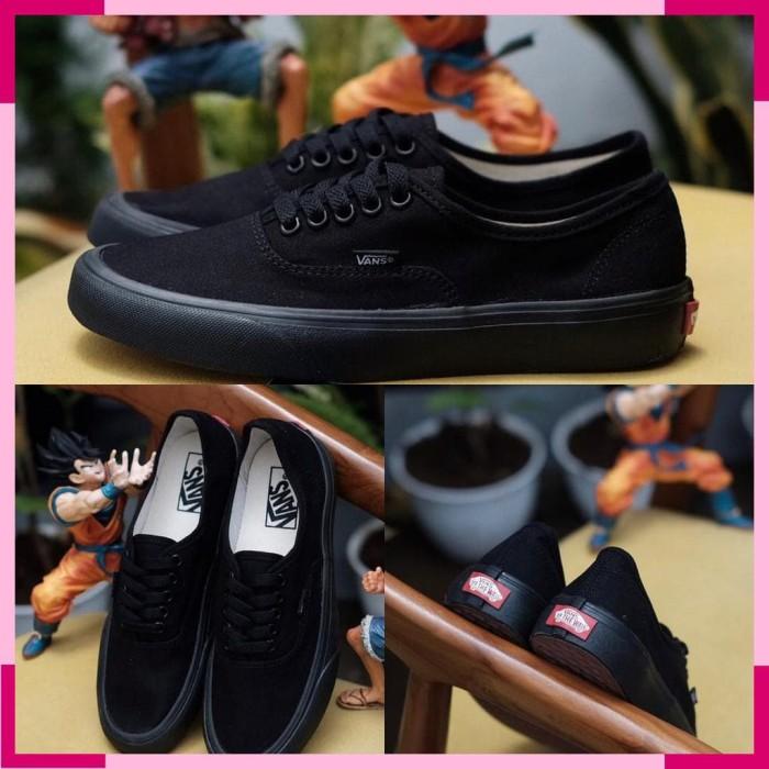 dd447fec0f Jual Sepatu Vans Authentic All Black import premium bnib made in ...