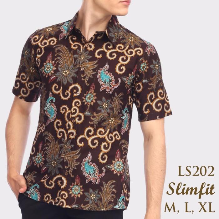harga Kemeja batik baju batik modern pria baju etnik lengan pendek ls202 Tokopedia.com