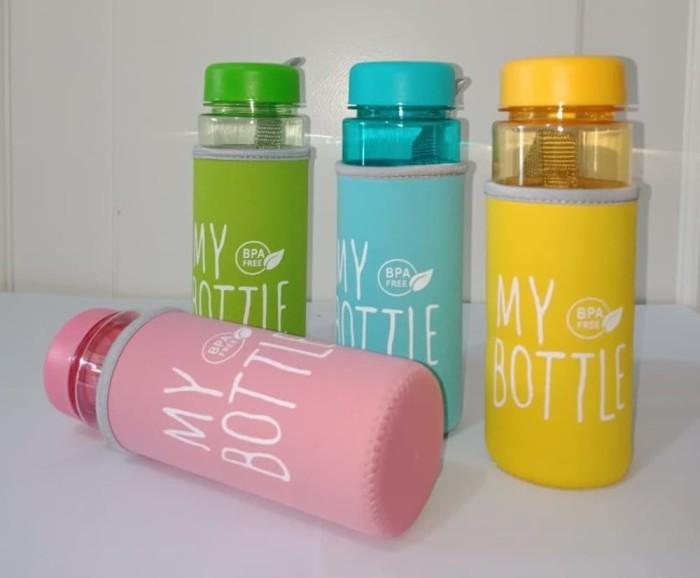 b3db07594c51 Jual My Bottle CLEAR Full Colour Logo BPA - FREE Pouch - Ungu - DKI Jakarta  - theresia mart   Tokopedia