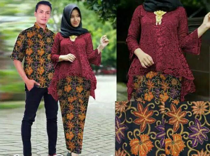 couple setelan Batik /couple kebaya modern/baju couple murah/kekinia