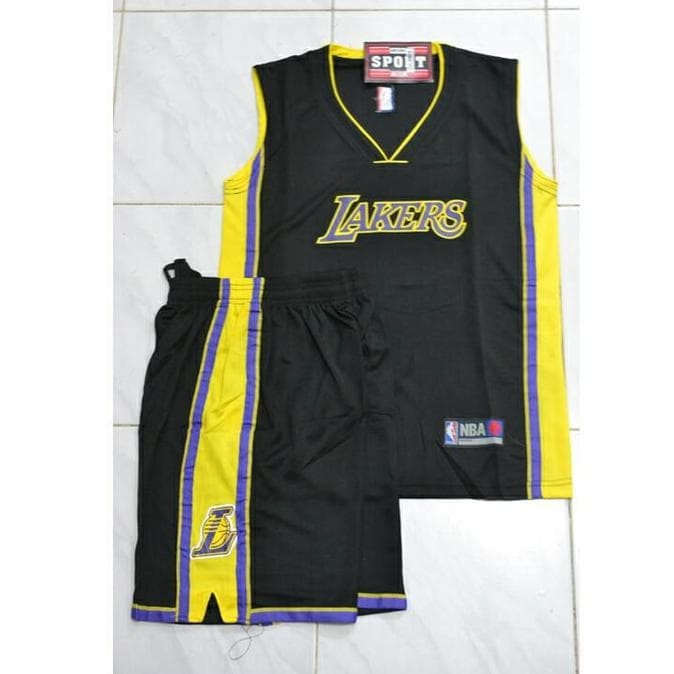best sneakers 0886f 2e158 Jual jual Jersey Basket Kids - LA Lakers - Hitam, 28 ready - DKI Jakarta -  Nandamaretos | Tokopedia