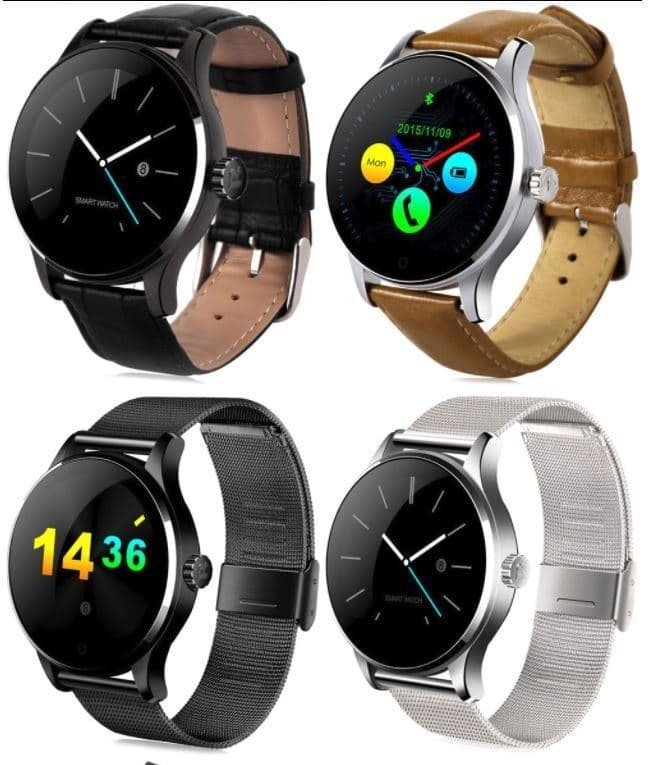 harga Smartwatch lemfo k88h jam tangan android smart watch kulit / stainless Tokopedia.com