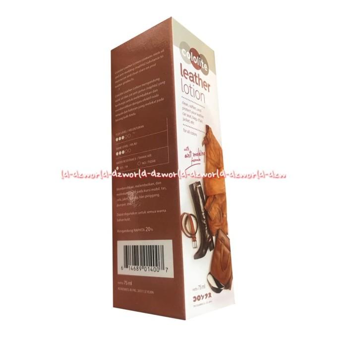 Cololite Leather Lotion Cairan Pembersih Bahan Kulit Ne Berkualitas
