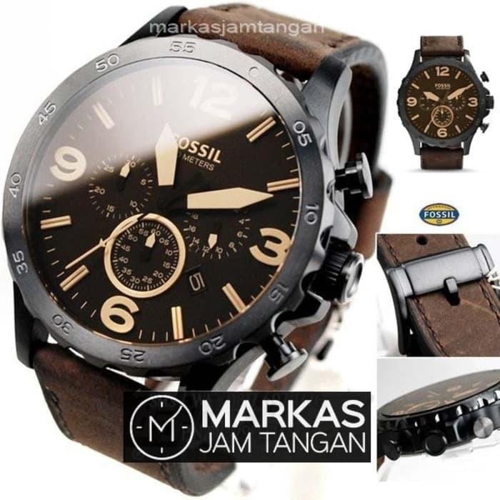Jual Jam Tangan Pria Fossil Nate JR-1424 1487 Chronograph Leather ... 2203d257c3e
