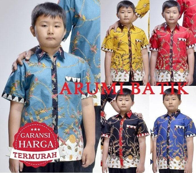 Jual Kemeja   Hem   Atasan   Baju   Anak Laki Laki Batik 2183 6 - 12 ... 6d1d31bdf2