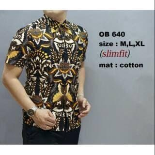 Jual New Model Kemeja Batik Pria Modern Baju Batik Pria Ob 640 Dki Jakarta Harmoni Hitz Tokopedia