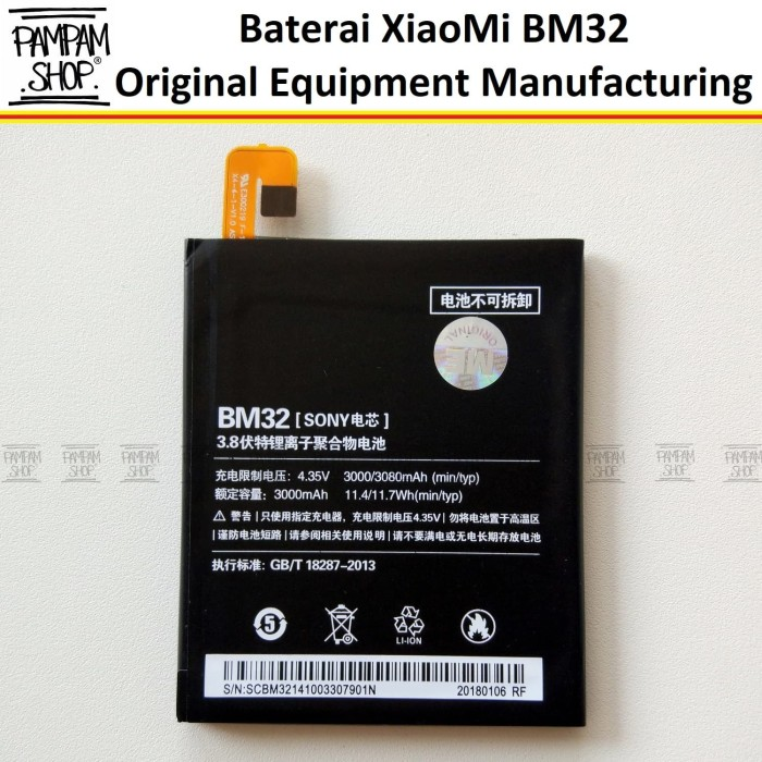 harga Baterai handphone xiaomi mi4 bm32 original oem | bm 32 hp xiao mi 4 Tokopedia.com