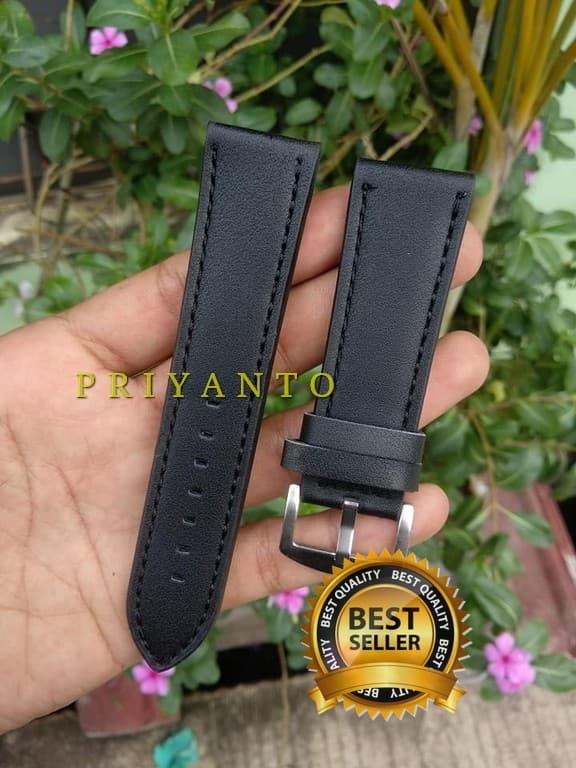 harga Tali jam tangan kulit 22 24 26 mm hitam Tokopedia.com