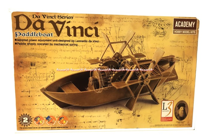 harga Academy da vinci paddle boat merakit kapal dafinci model kit Tokopedia.com