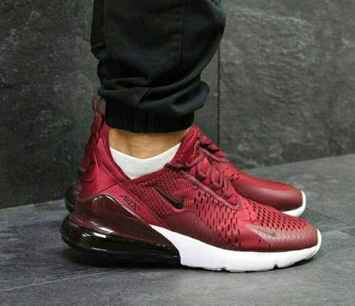 b5b09c48fd Jual Nike Airmax 270 Maroon Man Premium Sepatu Sneakers Kets Casual ...