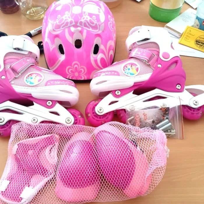 Jual sepatu roda anak fullset (body protecktor +helm)   inline skate ... 762b195836