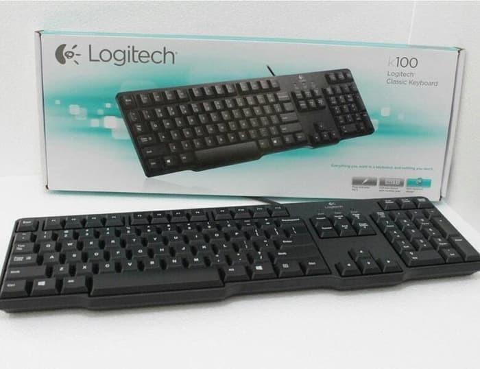 Logitech Classic Keyboard K100 Original - Hitam