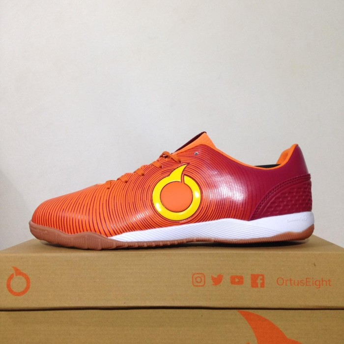 Promo Sepatu Futsal Ortuseight Catalyst Oracle In Ortrange Red