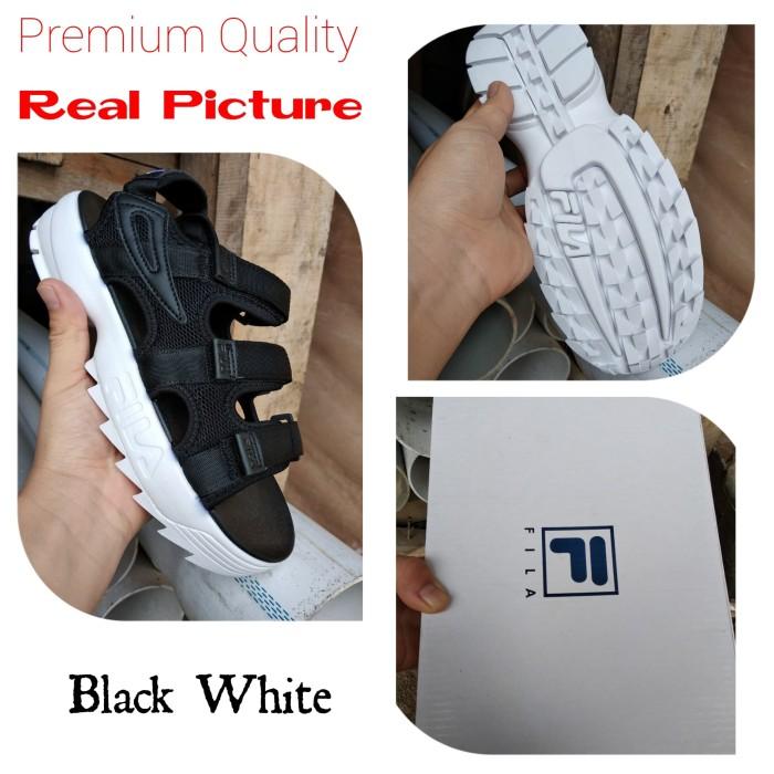 Jual Sandal Fila Disruptor II Black White - Markas Reseller  7dddc5bf6d